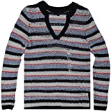 Tommy Hilfiger Women's Pullover Sweater, Size M, Masters Navy/Multi