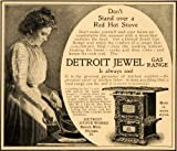 1901 Ad Detroit Jewel Antique Gas Range Hot Stove Works - Original Print Ad
