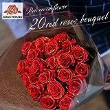 プリザーブドフラワー クリスマス プロポーズ 結婚記念日 バースデー 薔薇 20本 花束 ロマンチック ギフト 両親