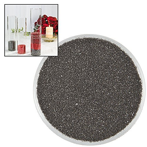 Black Colorful Decorative Sand (1 Lb.) Arts & Crafts