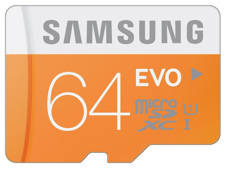 Amazon - Samsung 64GB EVO Class 10 microSDXC Card - $20.94