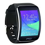 Tkasing Samsung Galaxy Gear S R750 Smart Watch Replacement Wristband Bracelet/Free Size Wireless Smartwatch Accessory Band Strap with Secure Buckle (G) (Color: G)