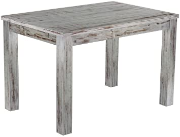 Brasil 'Rio' 120x 80cm Solid Pine Wood–Shabby Chic Oak Furniture Dining Table