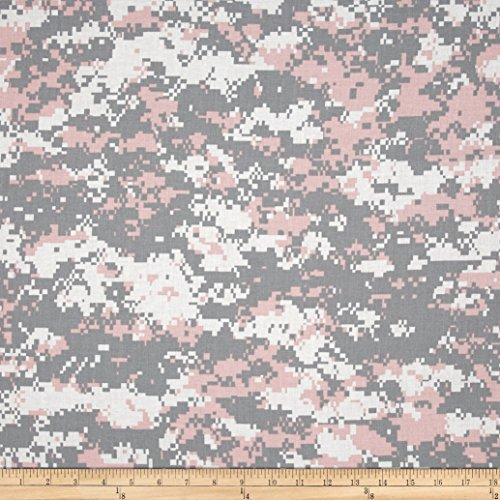 Urban Camouflage Pink/Grey Fabric By The Yard (Digital Camouflage Fabric compare prices)