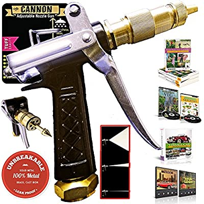 OutbackTUFF® 100% METAL Hose Nozzle Sprayer ~ High Power Pressure Washer Gun ~ Garden / Auto / Deck