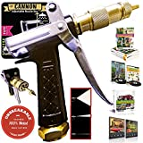 OutbackTUFF® 100% METAL Hose Nozzle Sprayer ~ Rugged, Tough & Powerful ~ Garden / Auto / Deck