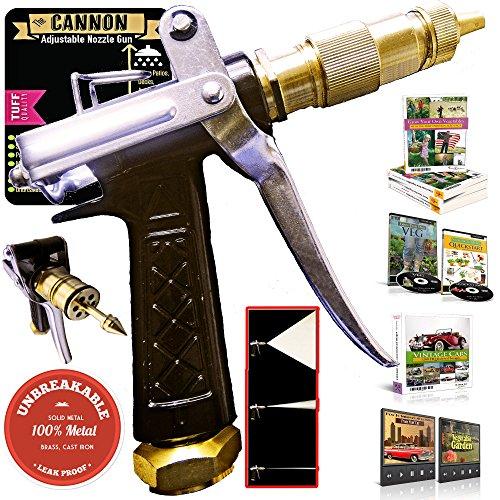 OutbackTUFF® 100% METAL Hose Nozzle Sprayer ~ Rugged, Tough & Powerful ~ Garden / Auto / Deck