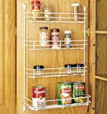 "Rev-A-Shelf Door Mount Spice Rack - 7.87"" Width - White Wire 565"