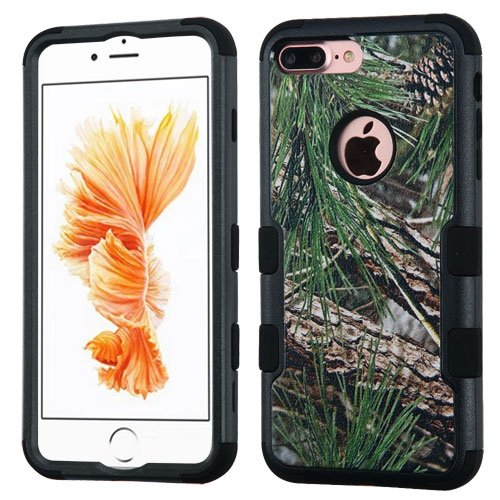 MyBat Cell Phone Case for Apple IPhone 7 Plus - Pine Tree-Hunting Camouflage Collection Black
