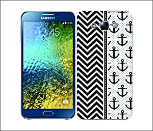 Galaxy Printed 2466 Nautical AnchorPattern Hard Cover for Samsung CORE 2