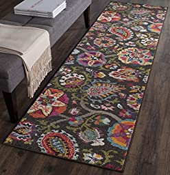 Safavieh Monaco Collection MNC229B Modern Colorful Floral Brown and Multi Runner (2\' 2\