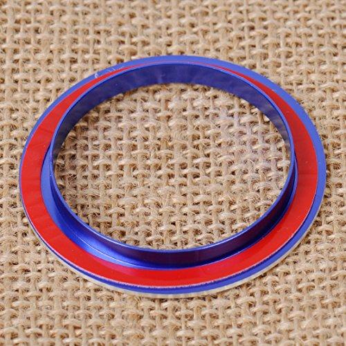 Blau 3x Klimaanlage Klimabedienteil Schalter Drehregler Drehknopf Rahmen