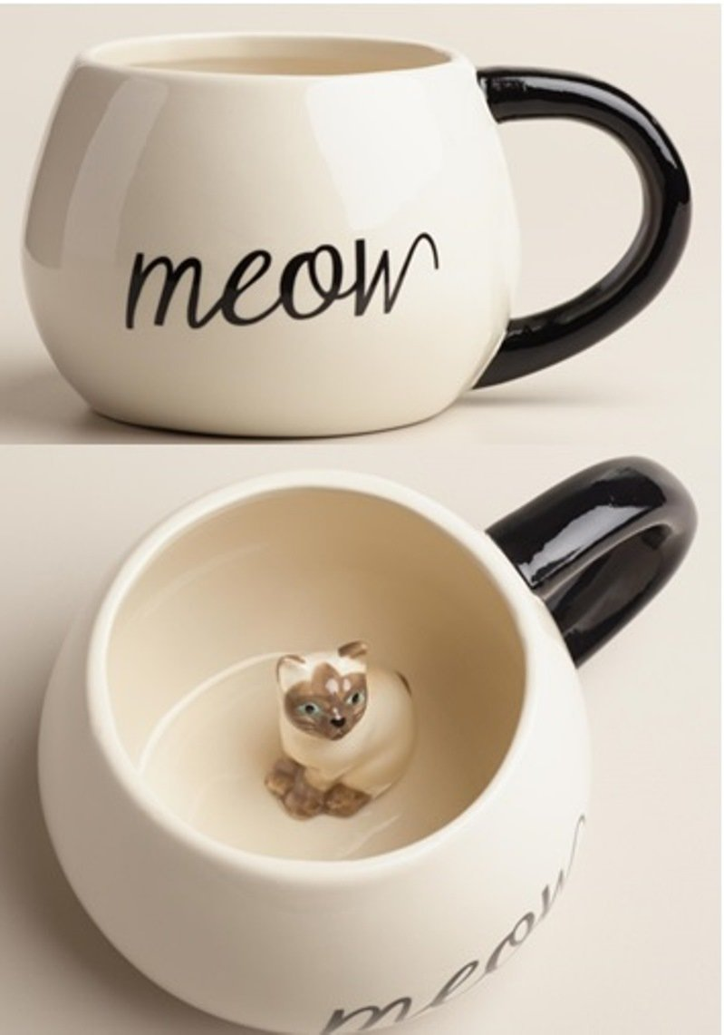 World Market Surprise Cat Coffee Mug
