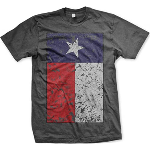 Big Texas Flag Mens T-shirt Texan Pride Oversized Distressed Faded Flag Design Mens Tee