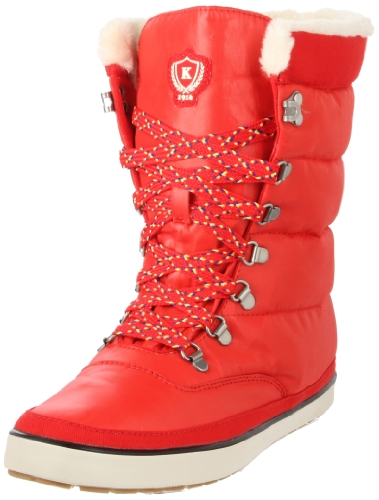 Keds Cream Puff Boot poppy red Ankle Boots Womens Red Rot (poppy red) Size: 4 (37 EU)