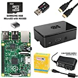 CanaKit Raspberry Pi B+ Complete Starter Kit with WiFi (Raspberry Pi B Plus + WiFi + Original Preloaded 8GB SD Card + Case + Power Supply + HDMI Cable)