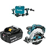 Makita XT268T 5.0Ah 18V LXT Lithium-Ion Brushless Cordless Combo Kit (2 Piece) with BL1860B 18V LXT Lithium-Ion 6.0 Ah Battery with XSS02Z 18V LXT Lithium-Ion Cordless Circular Saw, 6-1/2-Inch