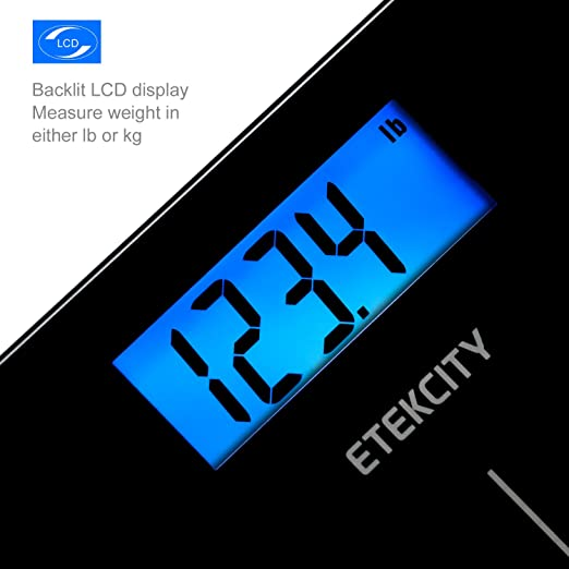 Etekcity Digital Body Weight Bathroom Scale with Step-On Technology, 400 Pounds, Body Tape Measure Included, Elegant Black Review