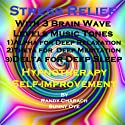 Stress Relief: With Three Brainwave Music Recordings - Alpha, Theta, Delta - for Three Different Sessions Speech by Randy Charach, Sunny Oye Narrated by Randy Charach