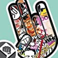 STICKER BOMB 01 - The Shocker Hand Aufkleber Decal Sticker Bombing 15cm NEU - DUB