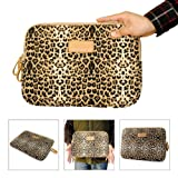 iClover Leopard Print Style Canvas Neoprene 14 Inch Laptop Sleeve Bag Dell / Hp /Lenovo/sony/ Toshiba / Ausa /Acer /Samsun Ultrabook Case Cover Netbook / Laptop / Notebook Computer/13.3 inch Macbook/Macbook Pro /Macbook Retina/ MacBook Air Sleeve Case Bag Cover 14 inch Bag