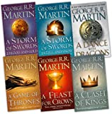 George R. R. Martin A Song of Ice and Fire 6 Books Collection Pack Set RRP: £69.95 (A Feast for Crows, A Storm of Swords: Blood and Gold: , A Storm of Swords: Steel and Snow: Part 1 of, A Clash of Kings, A Game of Thrones, A Dance With Dragons (Hardcove