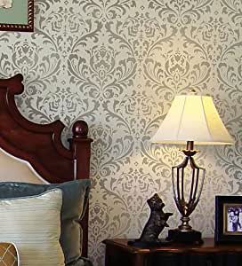 Damask Stencil Anna Reusable Large Wall