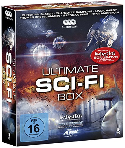 Ultimate Sci-Fi Box - Boxset mit 3 SciFi-Hits und 1 Bonus-DVD: Battleforce, The Ark, Immortal [3 Blu-rays + 1 Bonus-DVD]