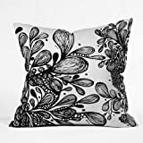 DENY Designs Julia Da Rocha Wild Leaves Throw Pillow, 6 by 6-Inch