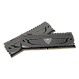 Patriot Viper Steel DDR4 16GB (2 x 8GB) 3200MHz Kit w/Gunmetal Grey heatshield (Tamaño: 3200MHz 16GB Kit (2x8GB))