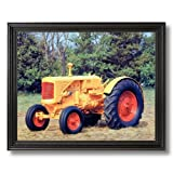 1938 Minneapolis Farm Tractor Home Decor Wall Picture Black Framed Art Print