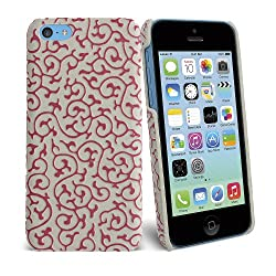 Celicious Pink Swirls Leatherette Slim-Back Cover Case for Apple iPhone 5c