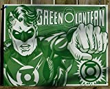 "Green Lantern - Duotone Metal Tin Sign 16""w X 12.5""h"