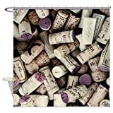 Shower Curtain I love Wine Corks