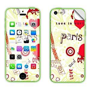 Skintice Designer Mobile Skin Sticker for Apple iPhone 5c, Design - Love In Paris