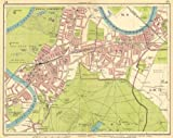LONDON SW: Richmond Mortlake Kew Twickenham Barnes E Sheen Petersham, 1930 map