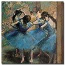 Trademark Fine Art Dancers in Blue, 1890 by Edgar Degas Canvas Wall Art, 14x14-Inch