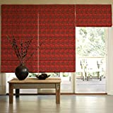 Presto Bazaar Red Jacquard Window Blind (60 Inch X 44 Inch)