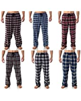 Hanes Men's Cotton Plaid Pajama Pant with pockets