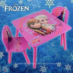 Disney Frozen Kids Pink Activity Table 2 Chairs Childrens