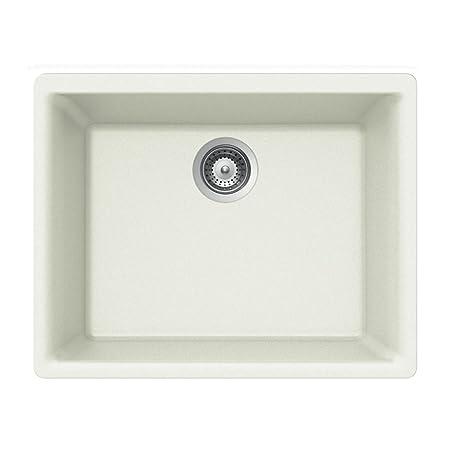 Houzer GEMO N-100U ALPINA Gemo Series Undermount Granite Single Bowl Kitchen Sink, Alpina