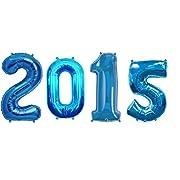 2015 Blue 16 Mylar Balloons