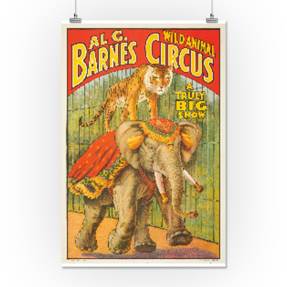 Al G Barnes Circus Vintage Poster USA (16x24 Giclee Gallery Print, Wall Decor Travel Poster) 1