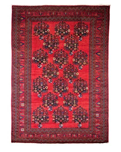 Tribal Collection Oriental Rug, Red, 7' 1 x 10' 1