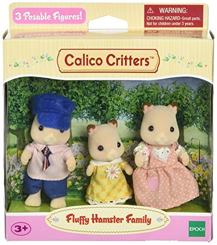 Calico Critters Fluffy Hamster Family Toy by Calico Critters