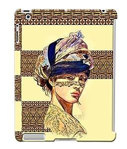 Fuson Egyptian Pattern Girl Back Case Cover for APPLE IPAD 2 - D3907