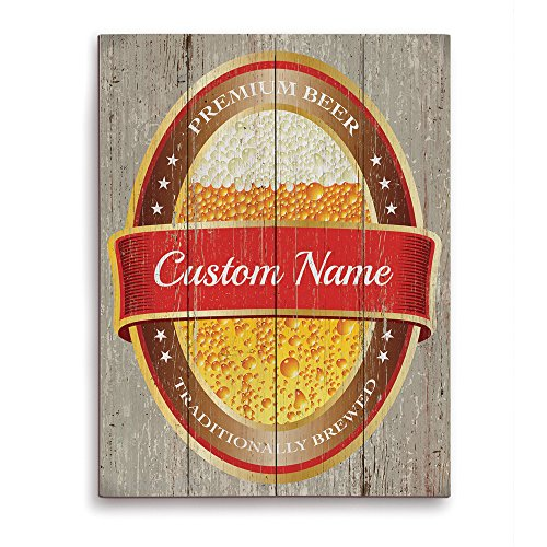 beer-can-bottle-suds-label-bar-sign-wood-grain-red-customizable-wall-art-print
