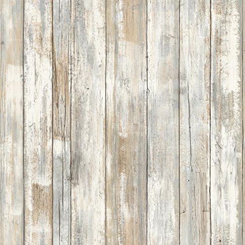 RoomMates RMK9050WP Distressed Wood Peel and Stick Wall Decor (Wallpaper Removal Solution compare prices)