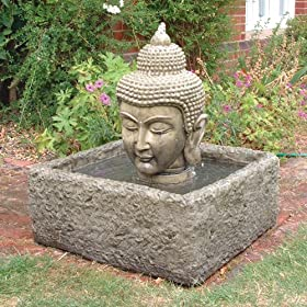 Statues & Sculptures Online Garden Water Features - Buddha Head ...