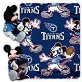 NFL Tennessee Titans Mickey Mouse Pillow with Fleece Throw Blanket Set